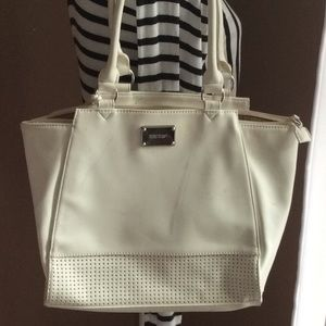 White Nine West Tote/Shoulder bag